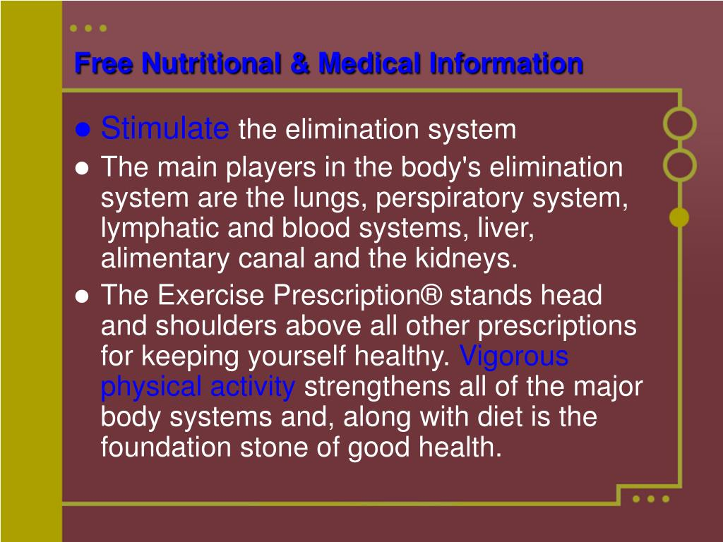 Free Nutritional & Medical Information