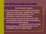 free nutritional medical information