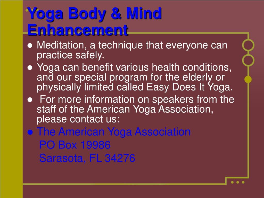 Yoga Body & Mind Enhancement