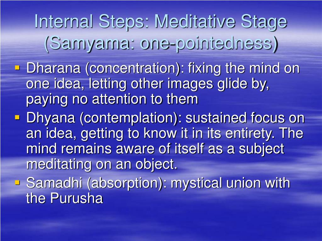 Internal Steps: Meditative Stage
