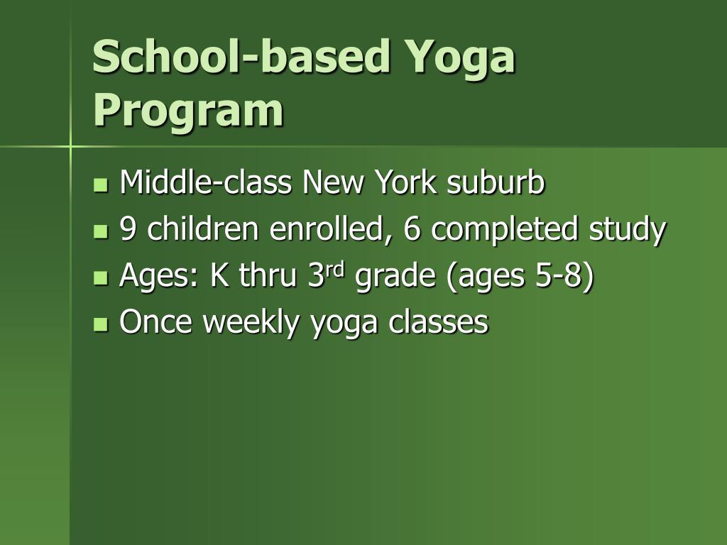 School-based Yoga Program