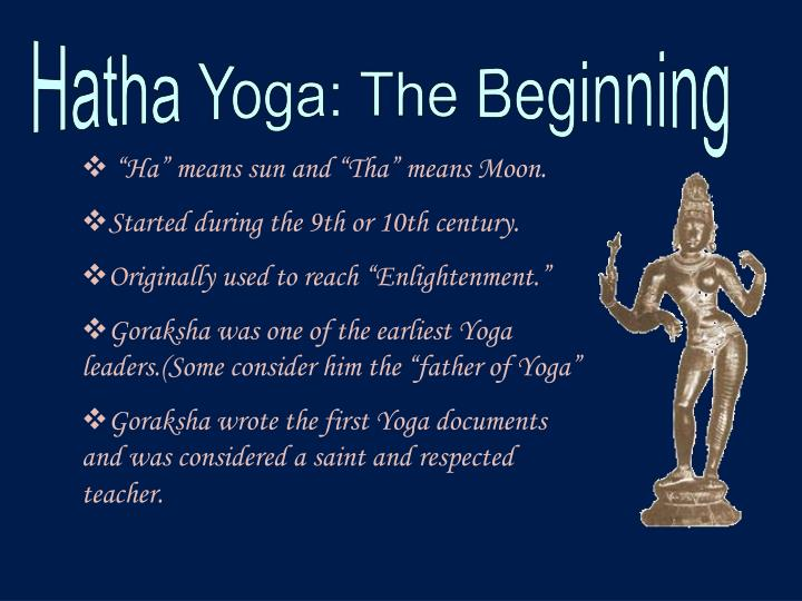 Hatha Yoga: The Beginning