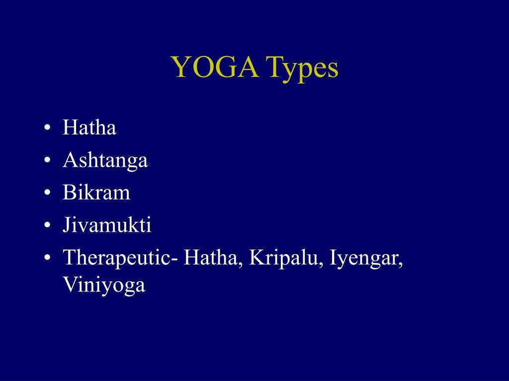 YOGA Types