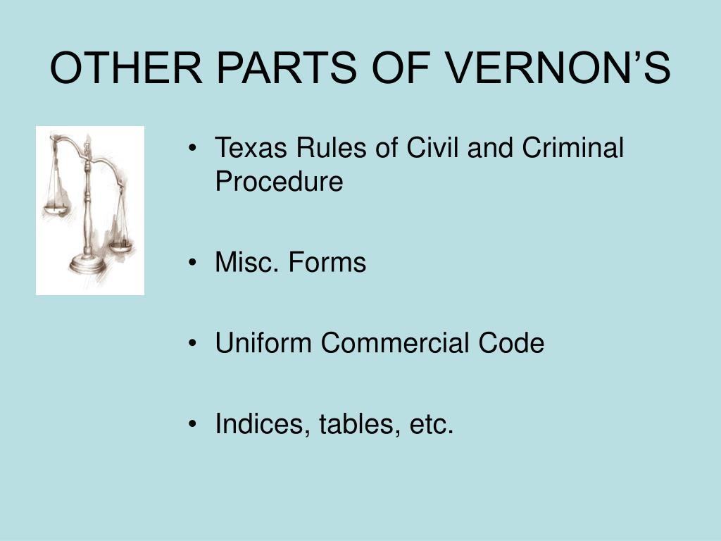 OTHER PARTS OF VERNON'S