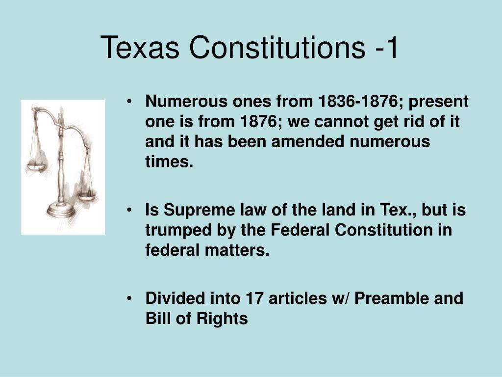 Texas Constitutions -1