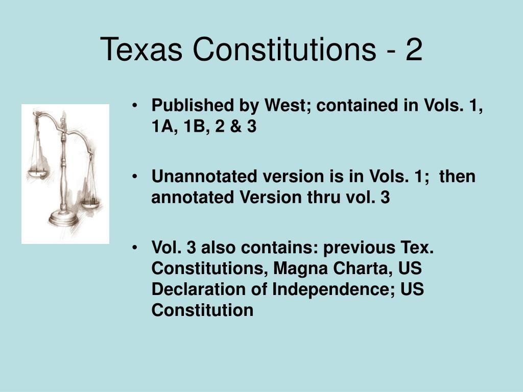 Texas Constitutions - 2