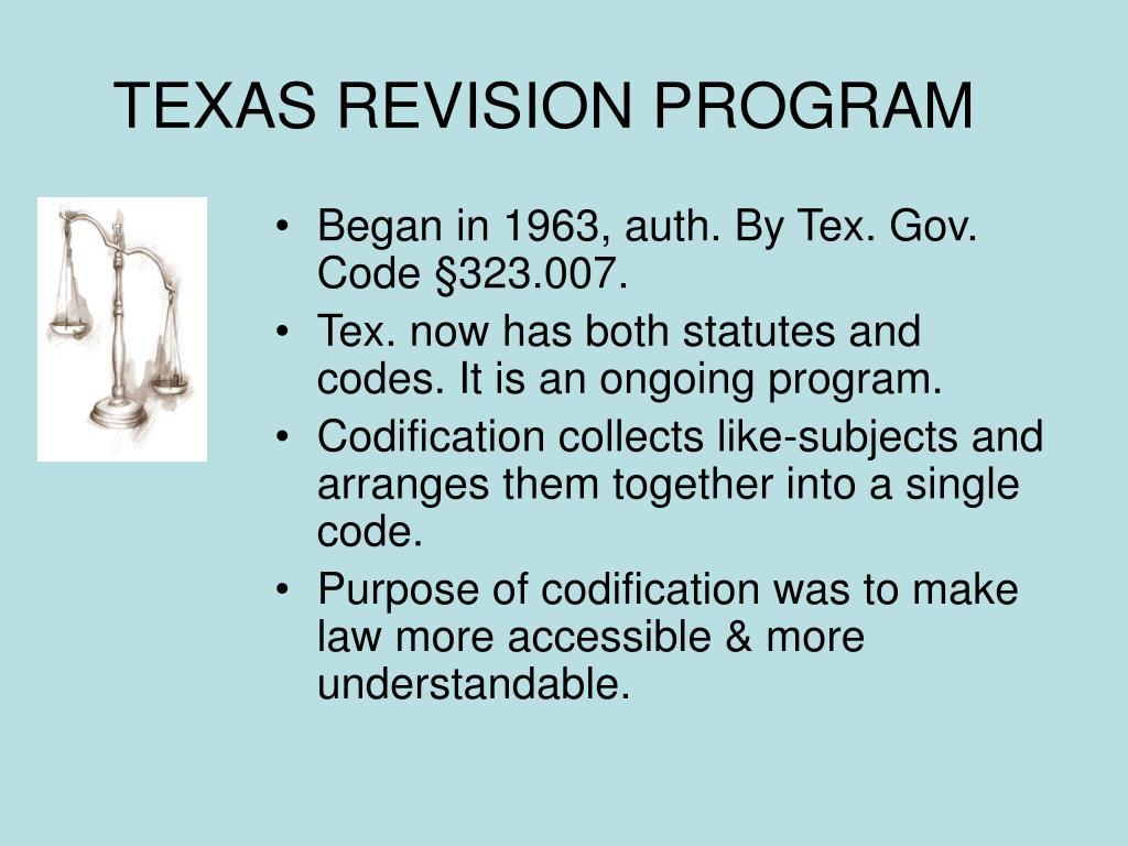 TEXAS REVISION PROGRAM
