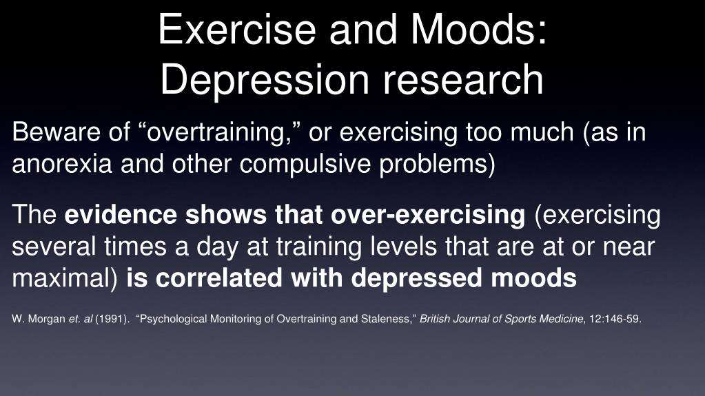 Exercise and Moods: