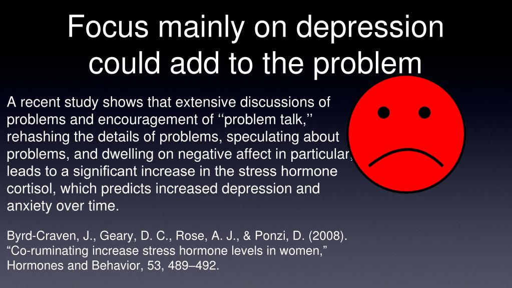 Focus mainly on depression could add to the problem