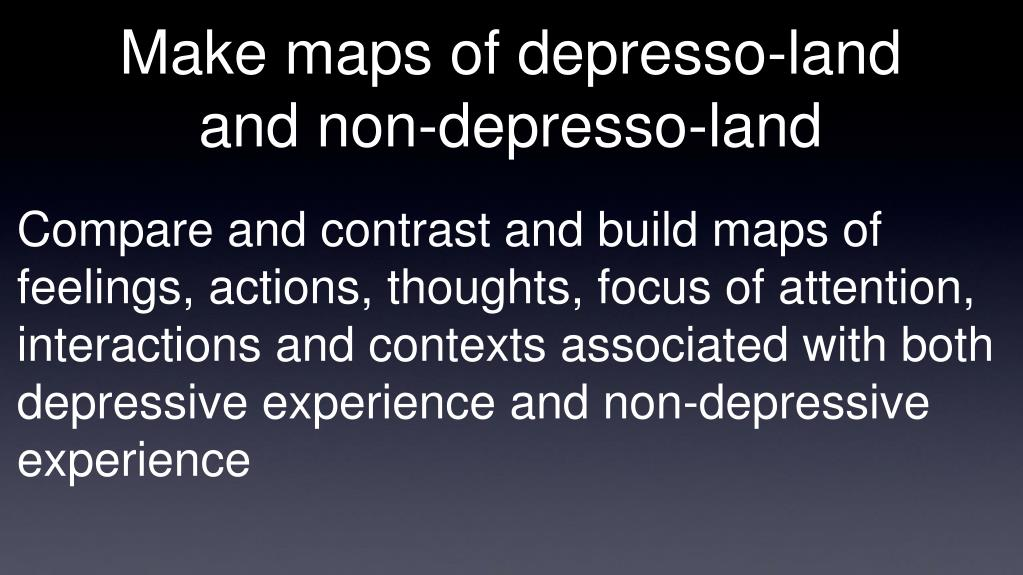 Make maps of depresso-land and non-depresso-land