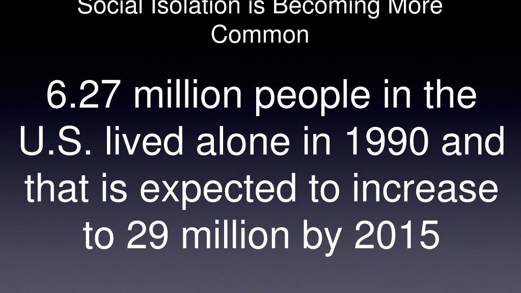 Social Isolation is Becoming More Common