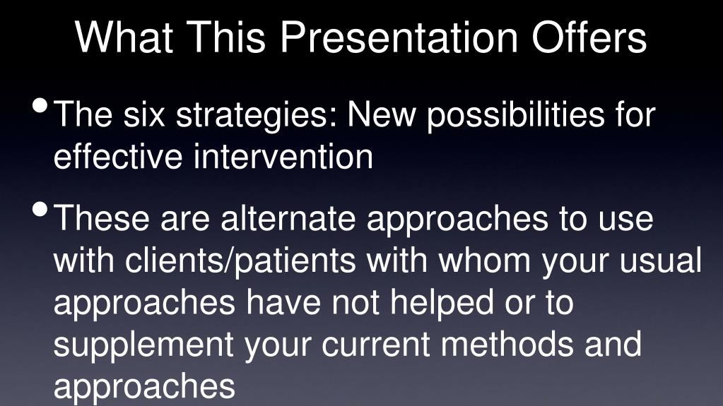 What This Presentation Offers