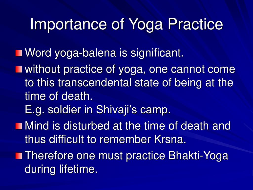 Importance of Yoga Practice
