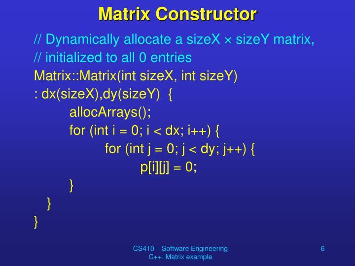 Matrix Constructor