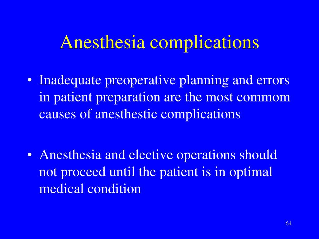 Anesthesia complications