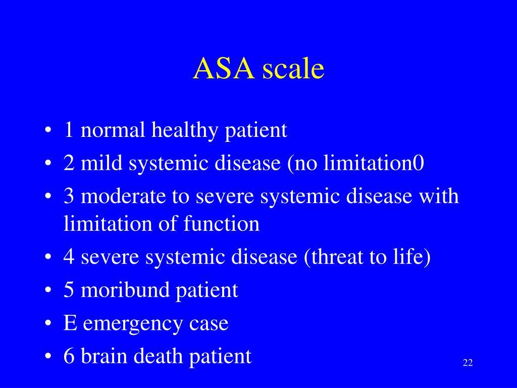 ASA scale