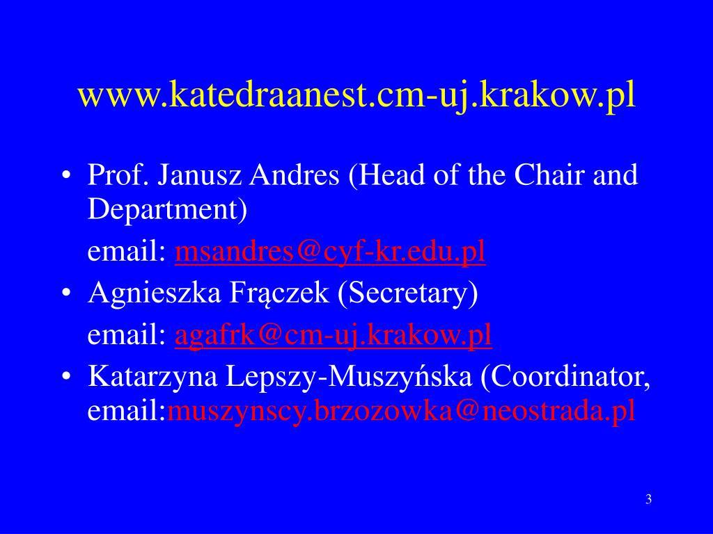 www.katedraanest.cm-uj.krakow.pl