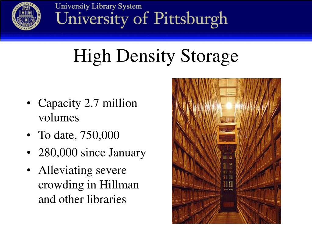 Capacity 2.7 million volumes