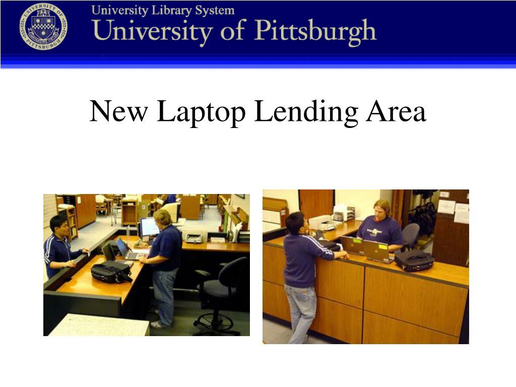New Laptop Lending Area