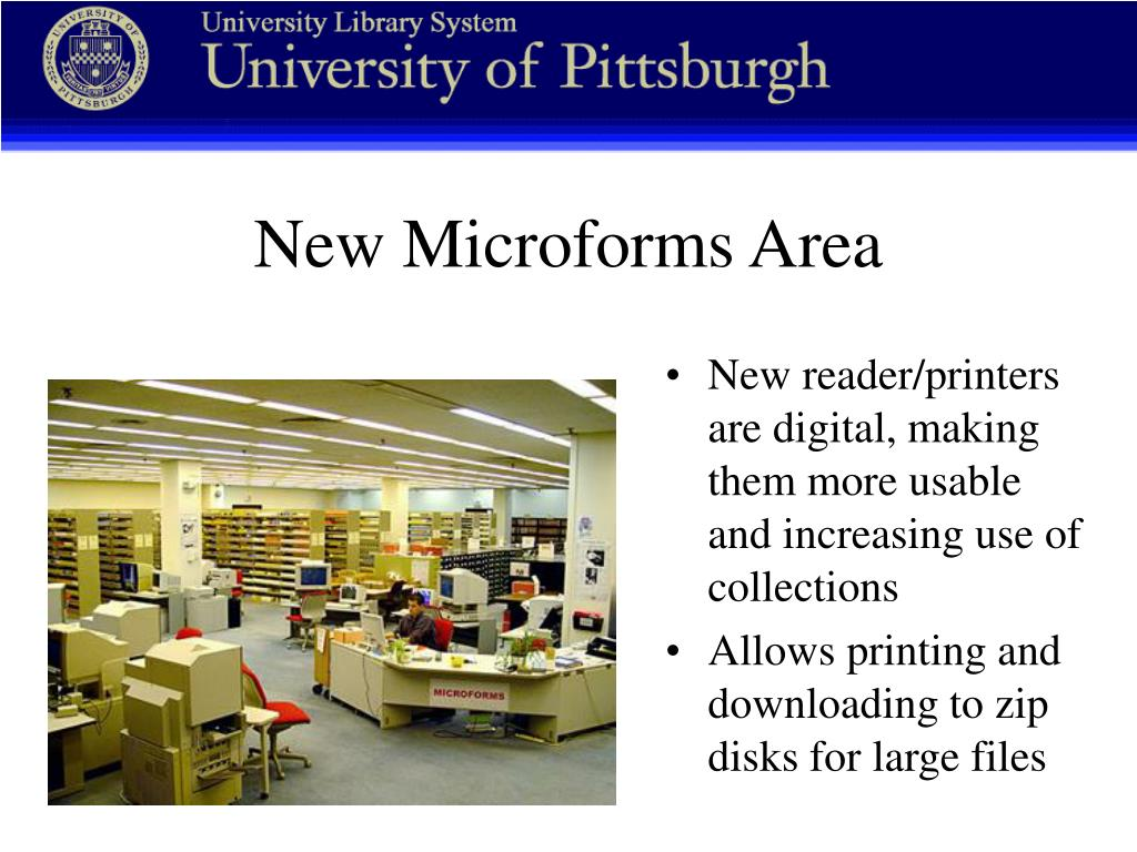 New reader/printers are digital, making them more usable and increasing use of collections