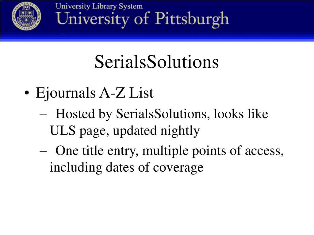 SerialsSolutions