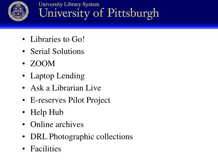 Libraries to Go!