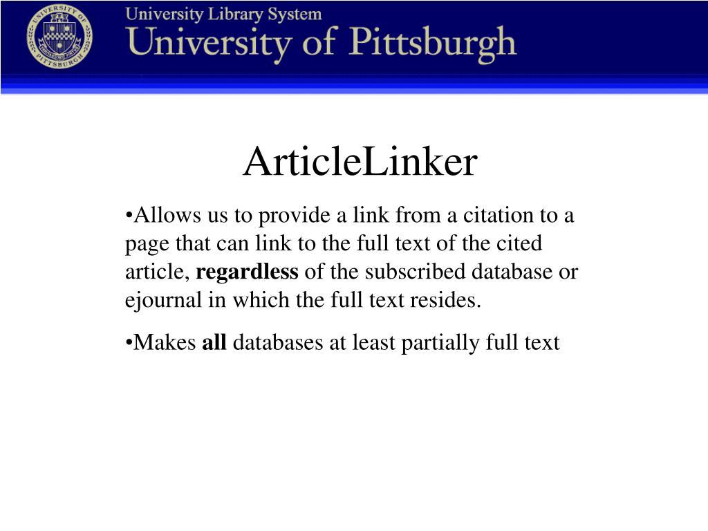 ArticleLinker
