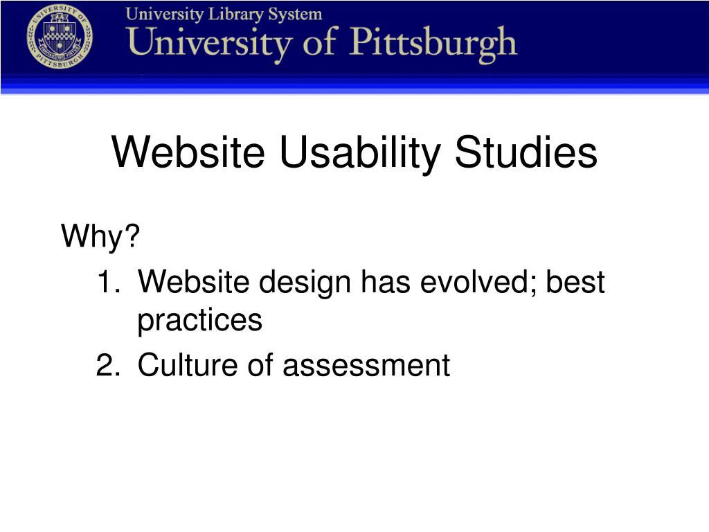 Website Usability Studies