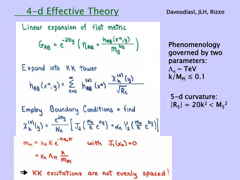 4-d Effective Theory