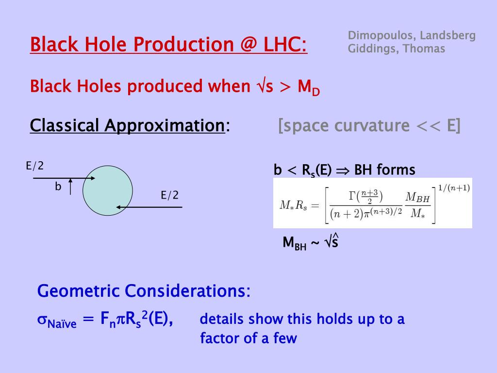 Black Hole Production @ LHC: