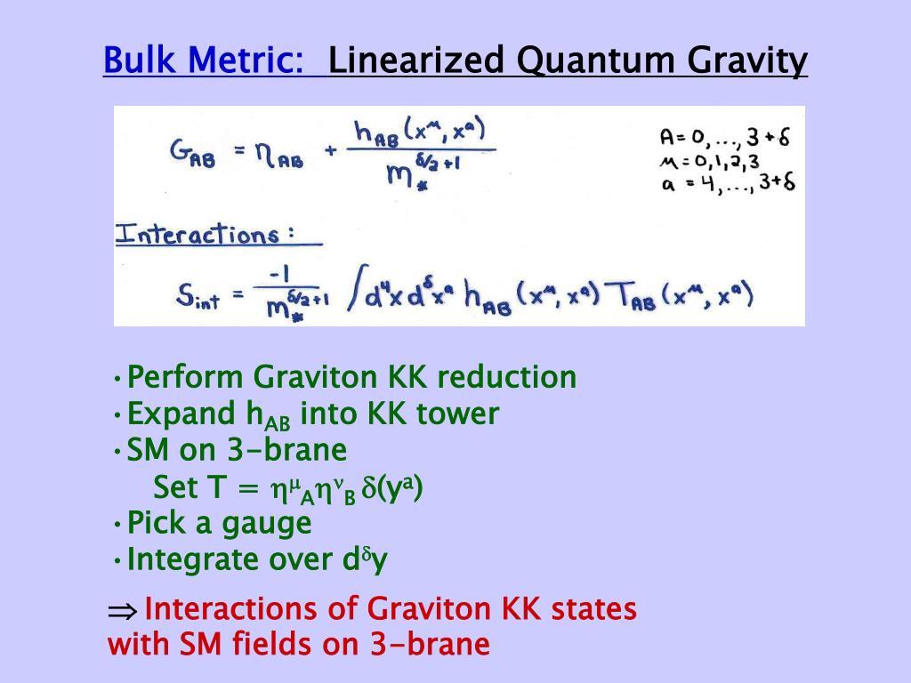 Bulk Metric: