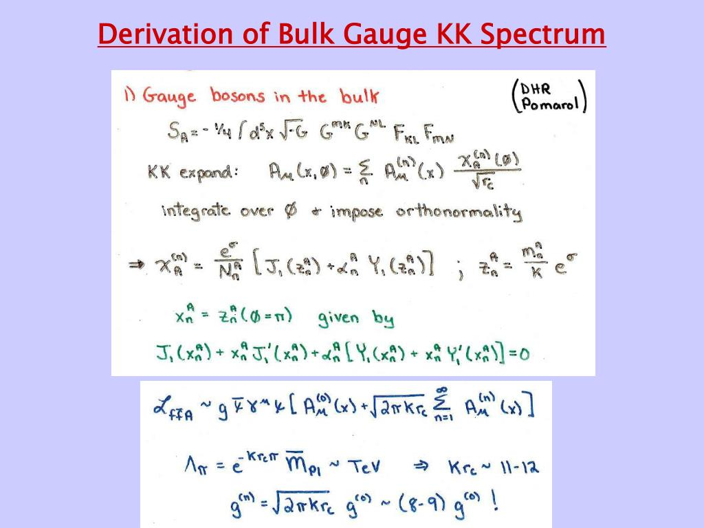 Derivation of Bulk Gauge KK Spectrum