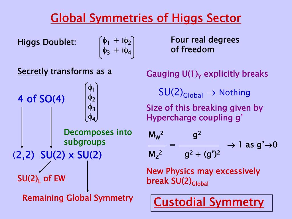 Global Symmetries of Higgs Sector