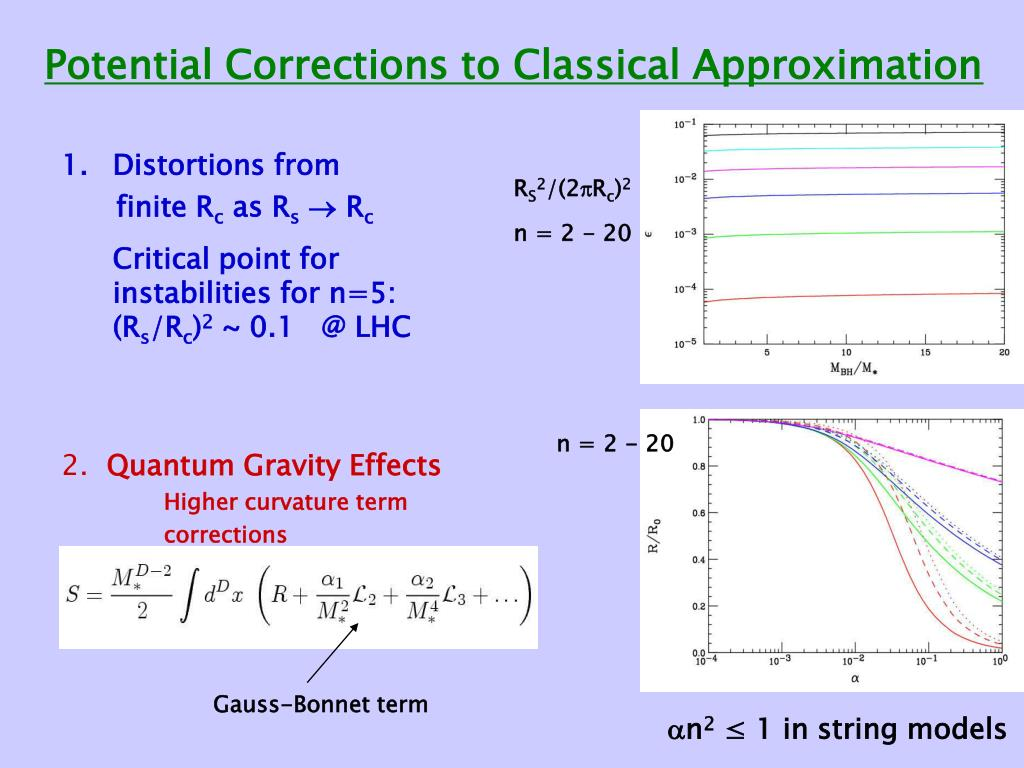 Potential Corrections to Classical Approximation