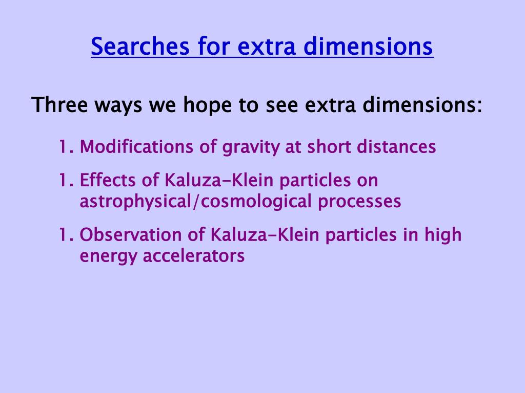 Searches for extra dimensions
