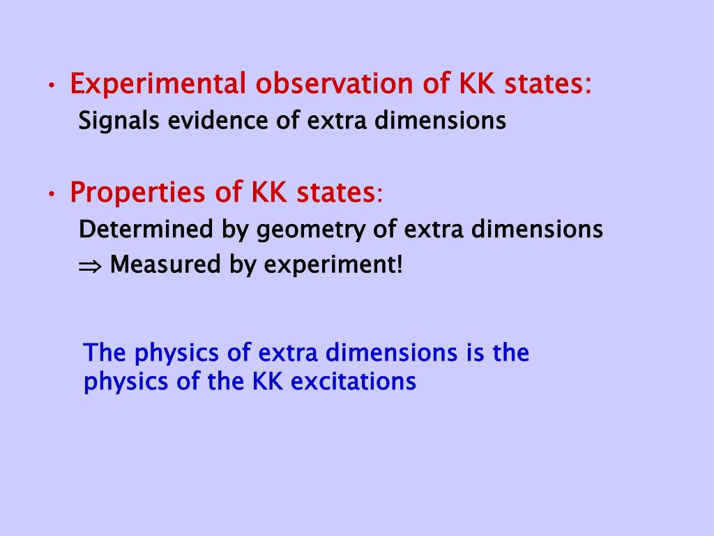 Experimental observation of KK states: