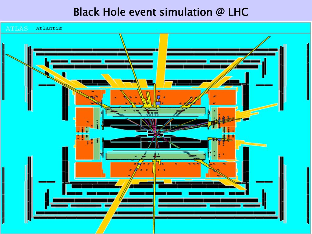 Black Hole event simulation @ LHC