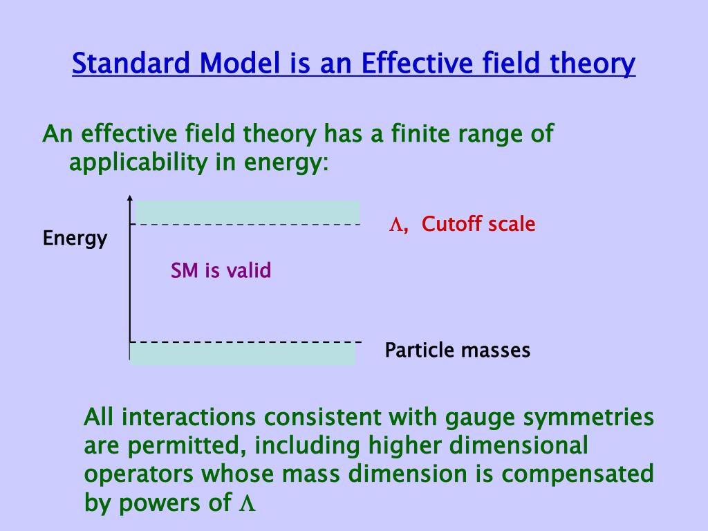 Standard Model is an Effective field theory