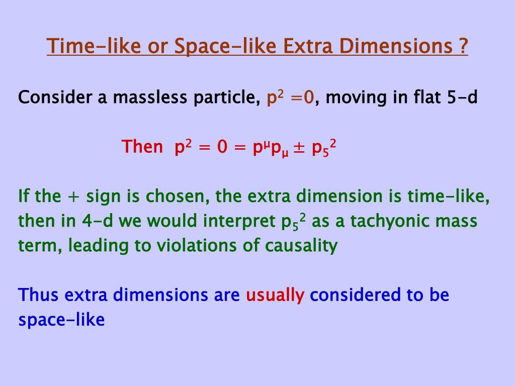 Time-like or Space-like Extra Dimensions ?