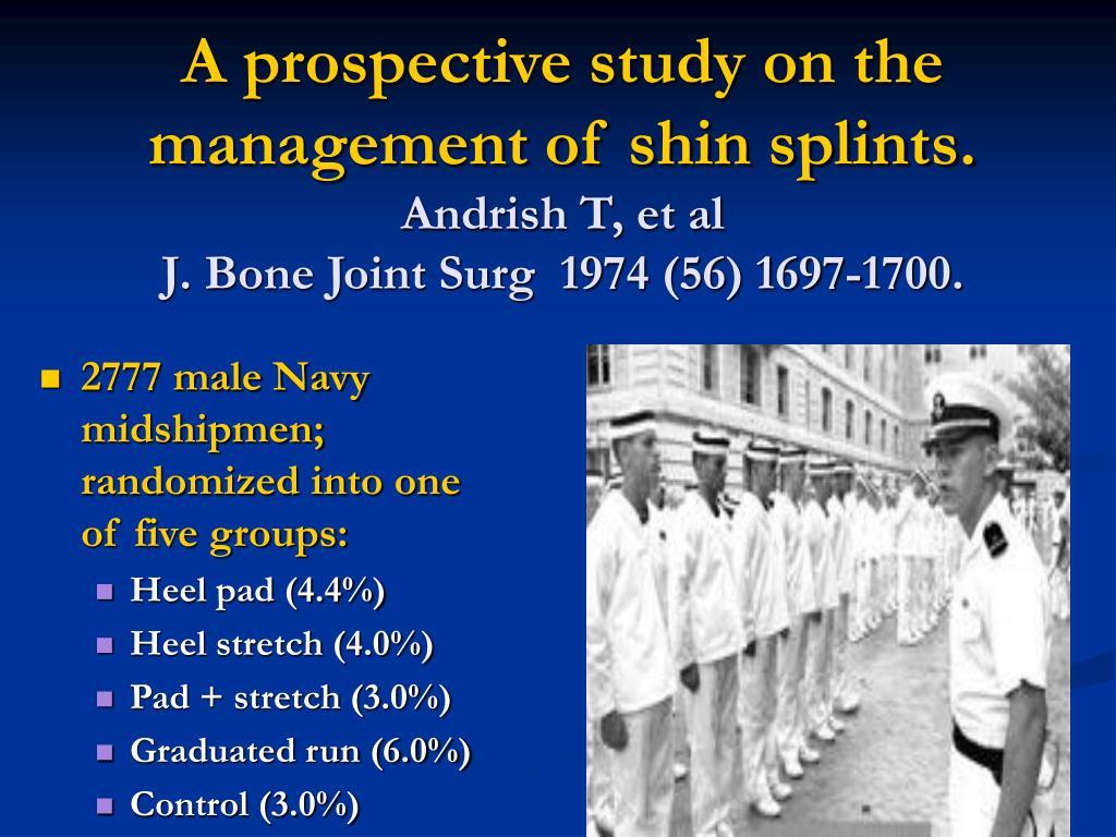 A prospective study on the management of shin splints.
