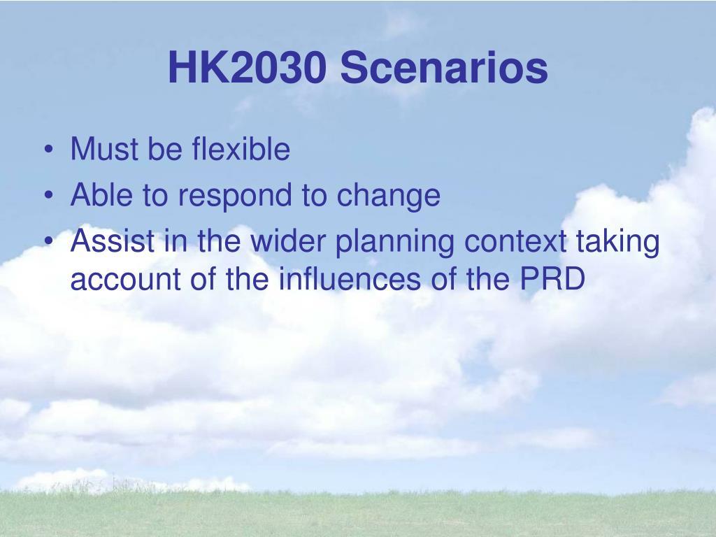 HK2030 Scenarios