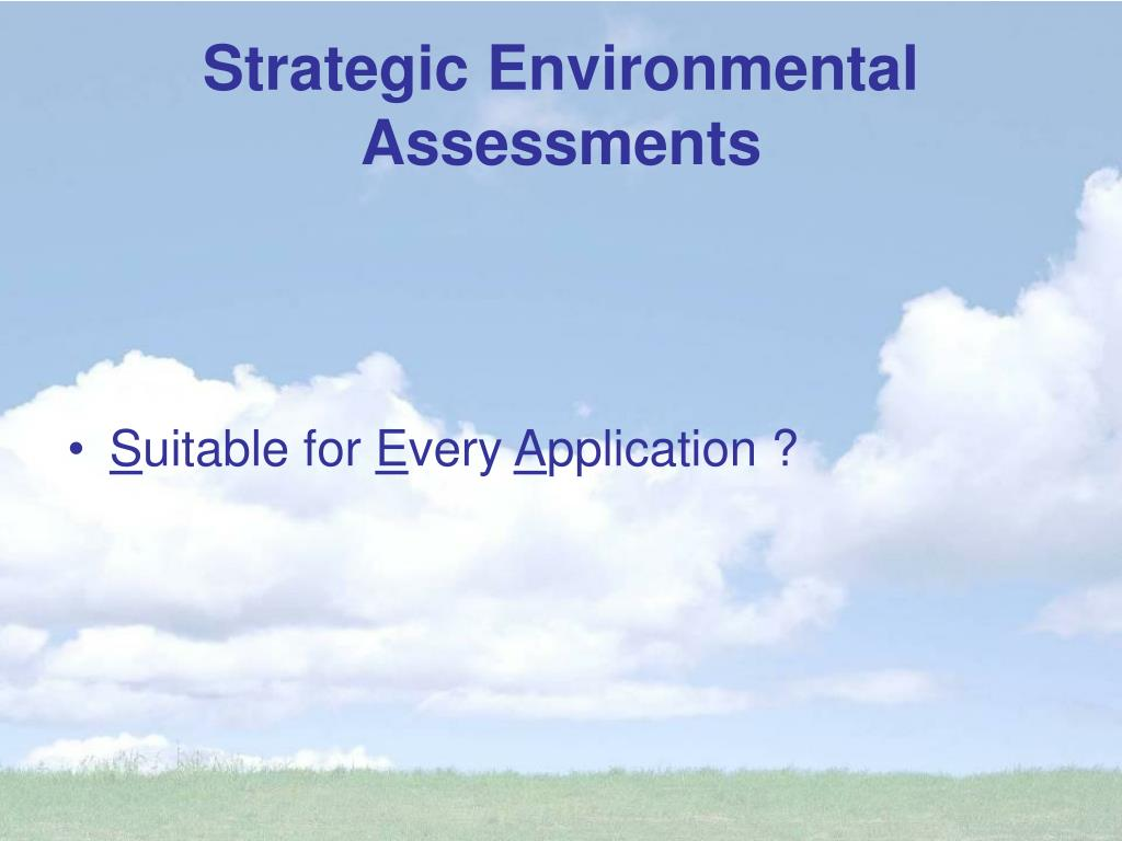 Strategic Environmental Assessments