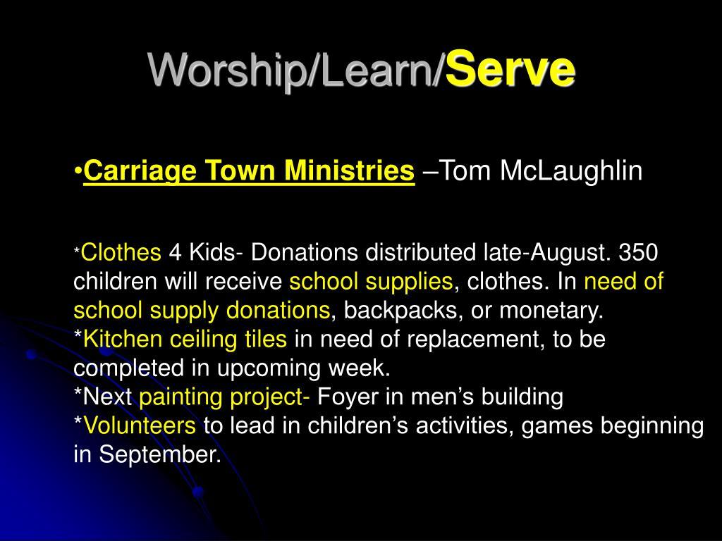 Worship/Learn/