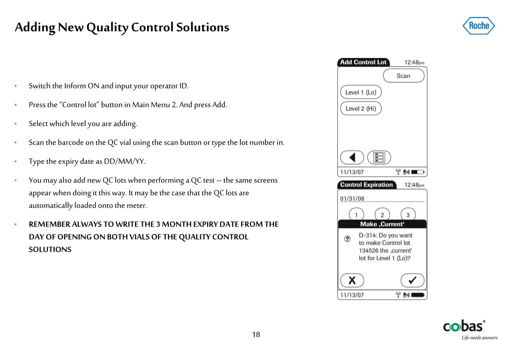 Adding New Quality Control Solutions