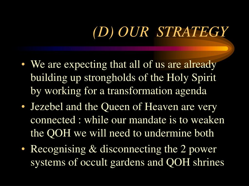 (D) OUR  STRATEGY