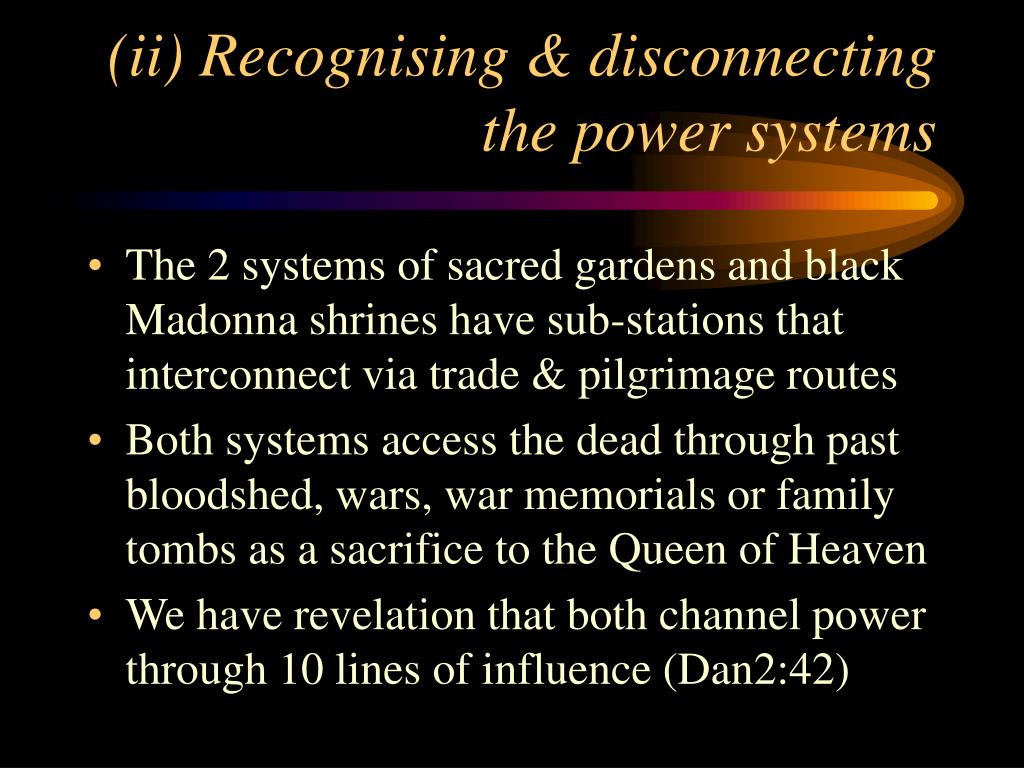(ii) Recognising & disconnecting the power systems
