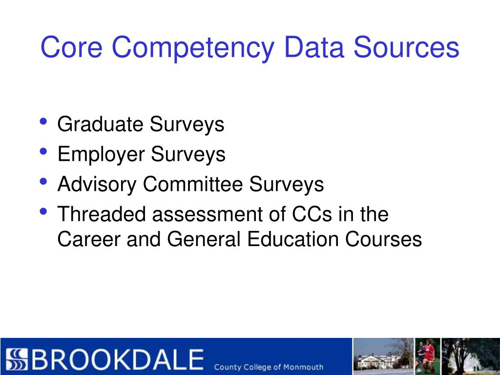 Core Competency Data Sources