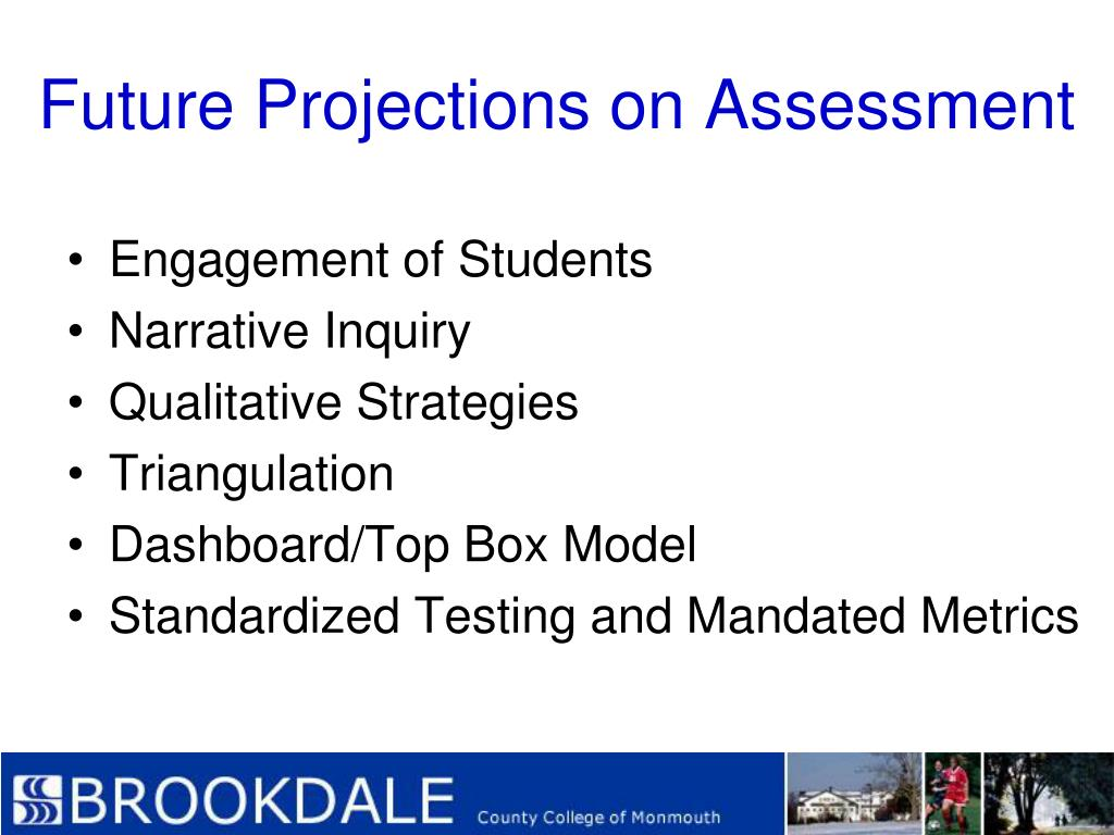 Future Projections on Assessment