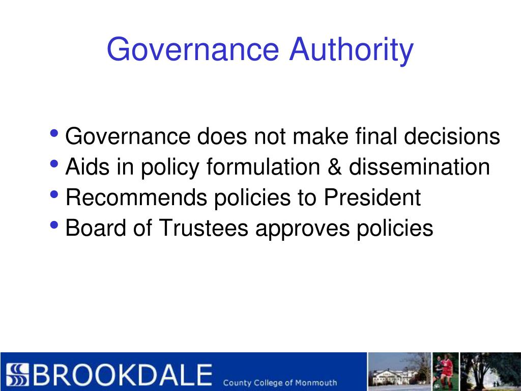 Governance Authority