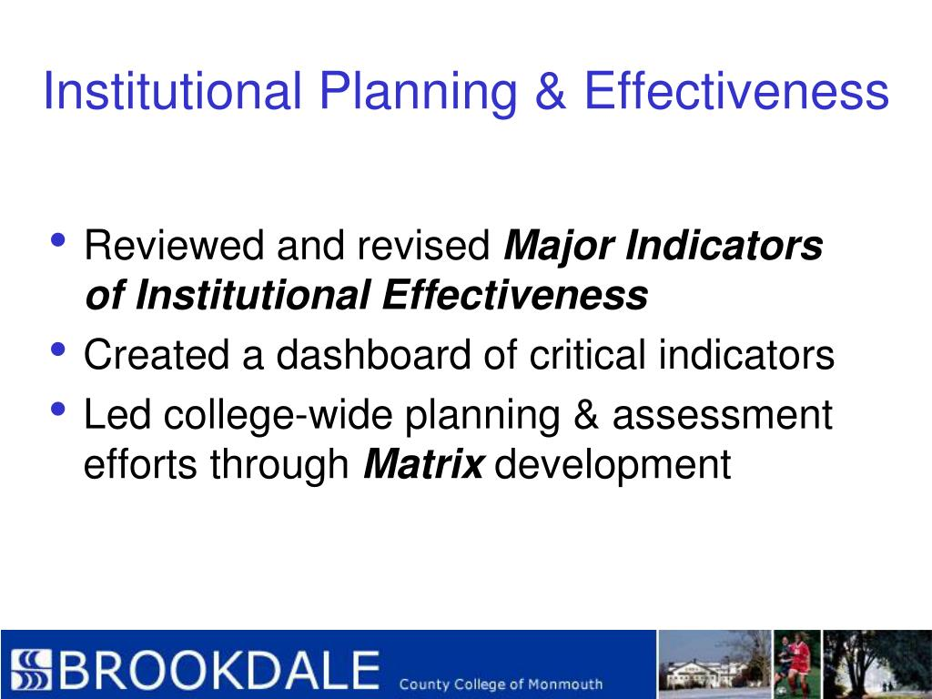 Institutional Planning & Effectiveness